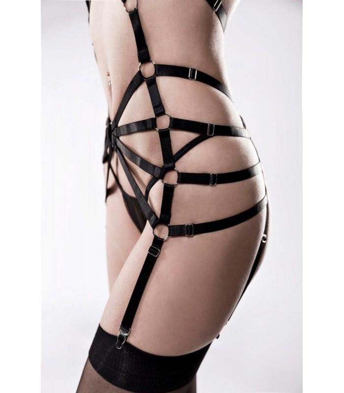 2-teiliges Harness Set von Grey Velvet String und Harness Dessous schwarz
