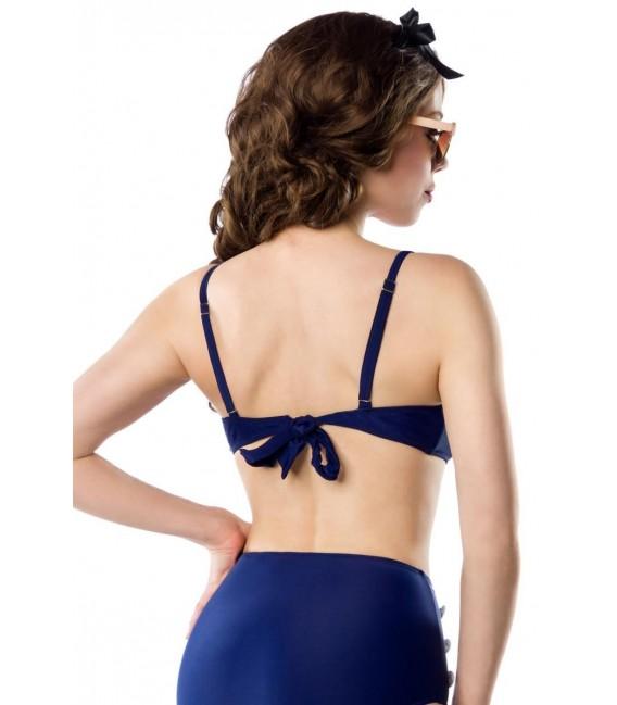 Großbild Vintage-Bikinioberteil blau/rot/weiß - Bild 3
