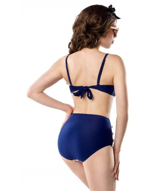 Großbild Vintage-Bikinioberteil blau/rot/weiß - Bild 6