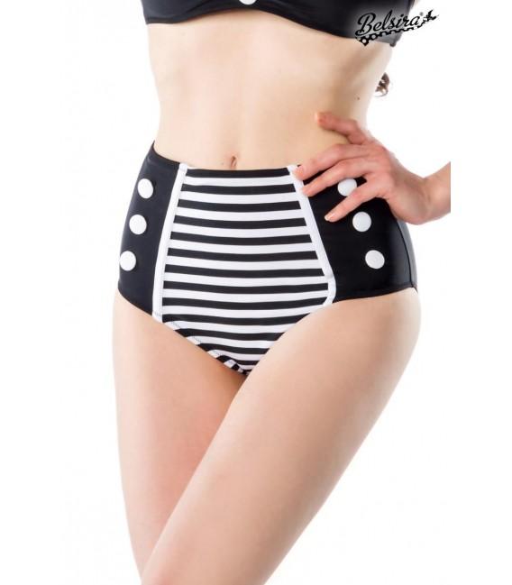 Großbild Vintage-Bikinihöschen schwarz/weiß - Bild 1