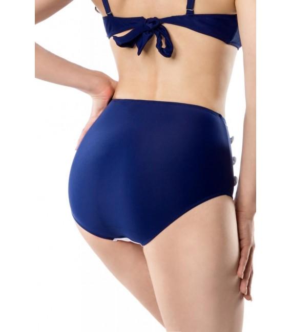 Vintage-Bikinihöschen blau/rot/weiß - Bild 3