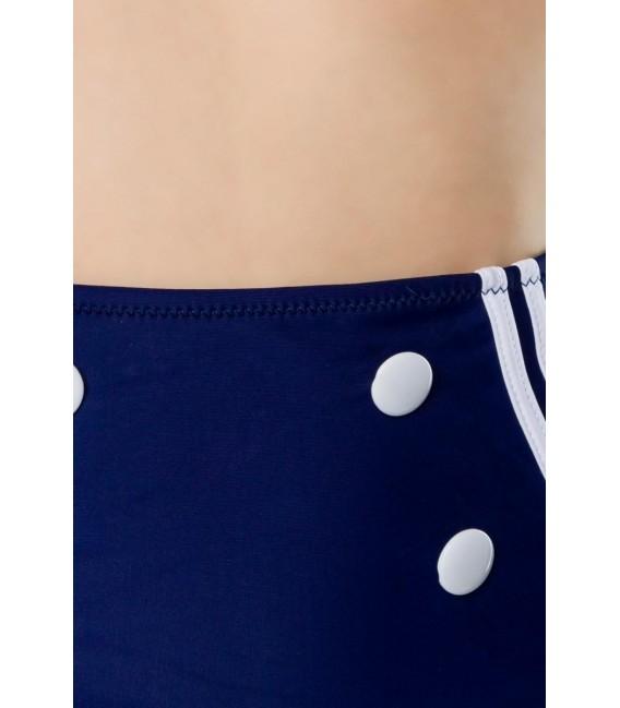 Großbild Vintage-Bikinihöschen blau/rot/weiß - Bild 4