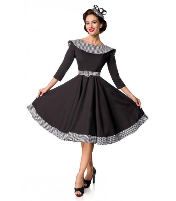 Premium Vintage Swing-Kleid schwarz/weiß - AT50172 ...