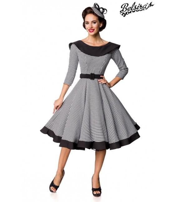 Premium Vintage Swing-Kleid schwarz/weiß - AT50180 - Bild 1