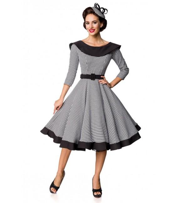 Premium Vintage Swing-Kleid schwarz/weiß - AT50180 - Bild 2