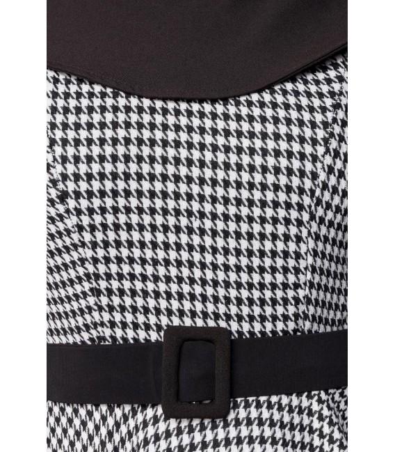 Premium Vintage Swing-Kleid schwarz/weiß - AT50180 - Bild 4