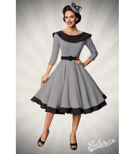 Premium Vintage Swing-Kleid schwarz/weiß - AT50180 - Bild 6