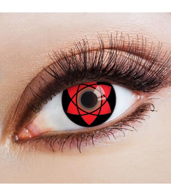 Sasuke Uchihas Mangekyou Sharingan - farbige Kontaktlinsen ohne Stärke Bild 1