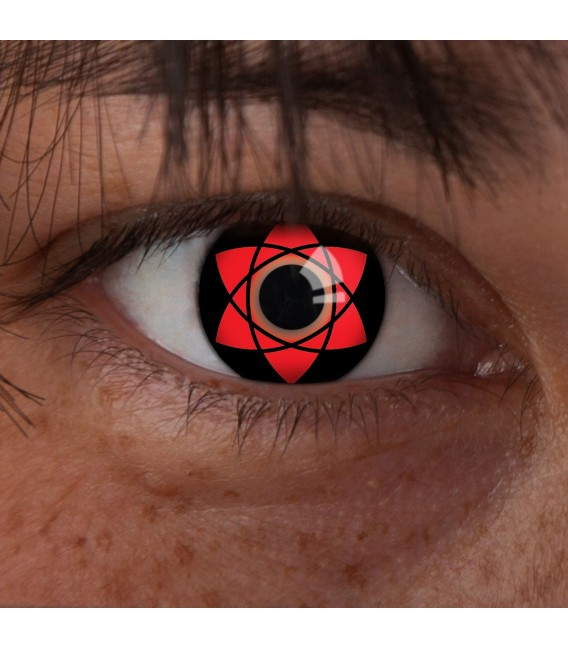 Sasuke Uchihas Mangekyou Sharingan - farbige Kontaktlinsen ohne Stärke Bild 2