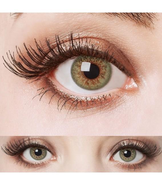 Green Glamour - farbige Kontaktlinsen ohne Stärke Bild 4 Großbild