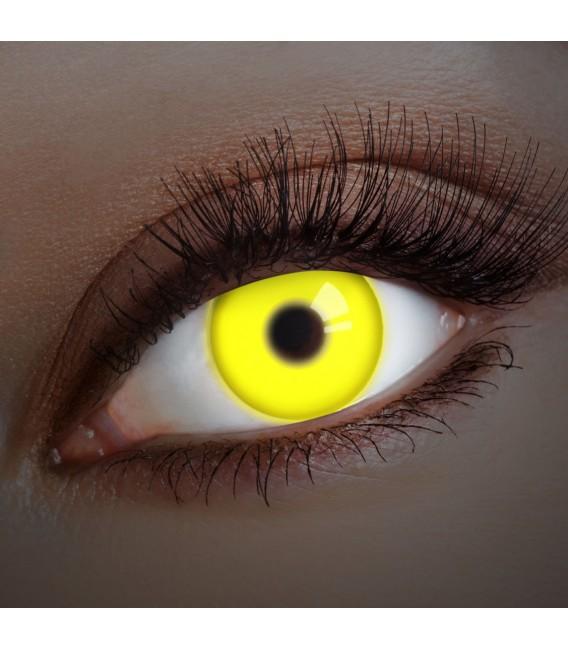 Yellow UV Shock - farbige Kontaktlinsen ohne Stärke Bild 1 Großbild