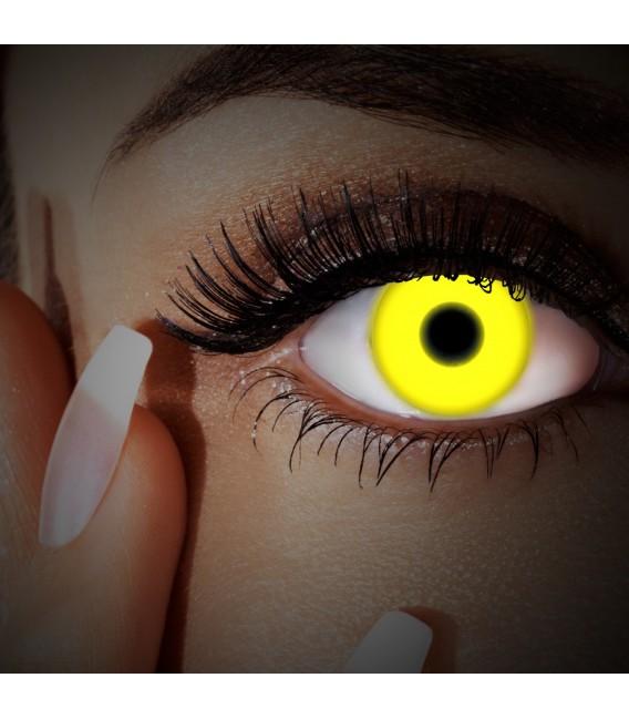 Yellow UV Shock - farbige Kontaktlinsen ohne Stärke Bild 3 Großbild