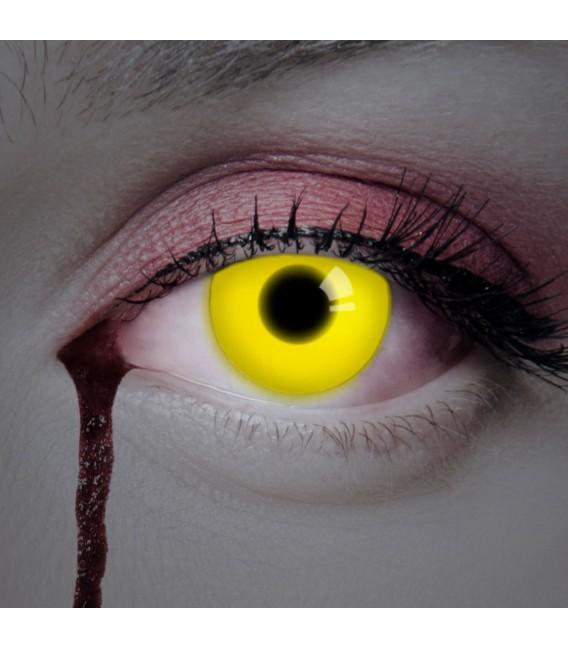 Yellow UV Shock - farbige Kontaktlinsen ohne Stärke Bild 2 Großbild