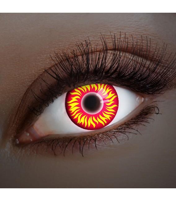 Großbild UV Fire In Your Eyes - Kontaktlinsen ohne Stärke Bild 1