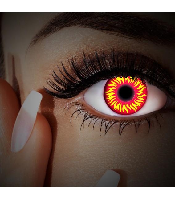 Großbild UV Fire In Your Eyes - Kontaktlinsen ohne Stärke Bild 3