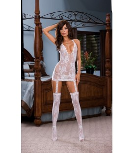 Garter Dress DR0074 weiß