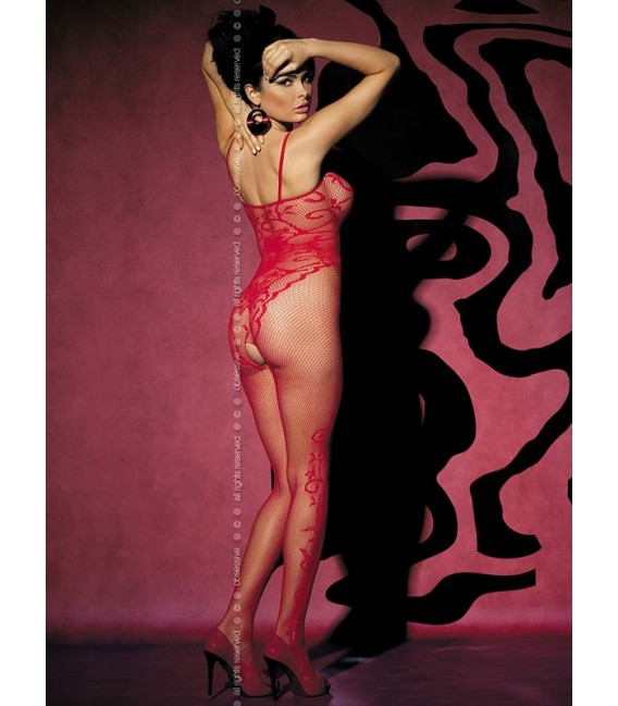 Bodystocking F205 rot Bild 2