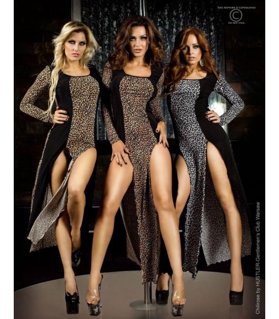 Langes Kleid CR3405 braun Bild 2 Großbild