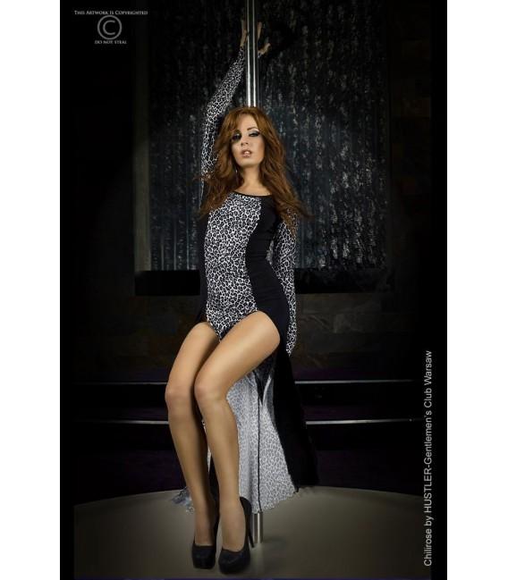 Langes Kleid CR3405 grau Großbild