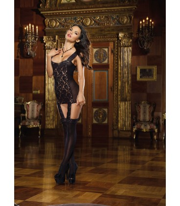 Garter Dress DR0144 schwarz
