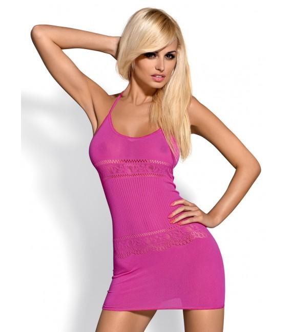 Minikleid D307 pink Bild 2