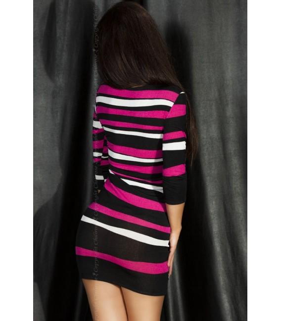 Minikleid CR3535 schwarz/pink Bild 2 Großbild