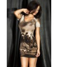 Minikleid CR3554 brown