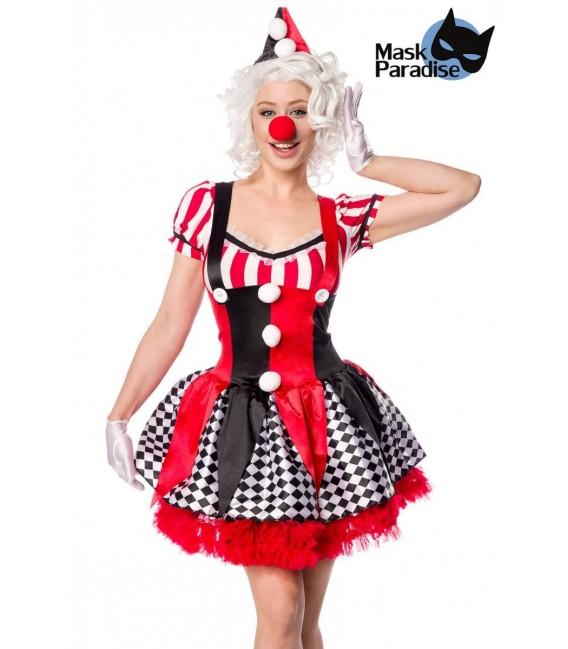 Sexy Clown rot/schwarz/weiß - AT80155 - Bild 1 Großbild