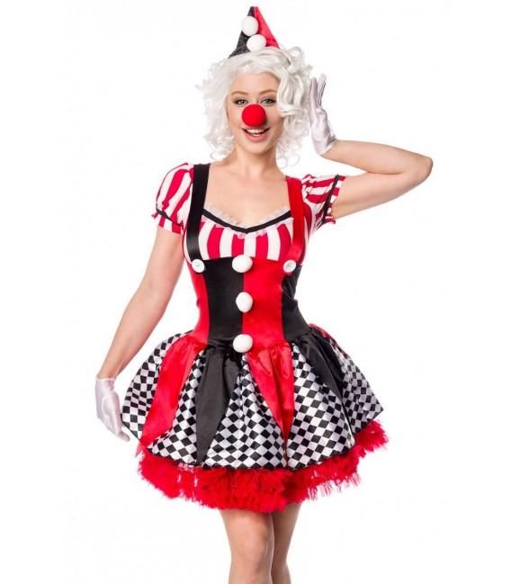 Sexy Clown rot/schwarz/weiß - AT80155 - Bild 2 Großbild