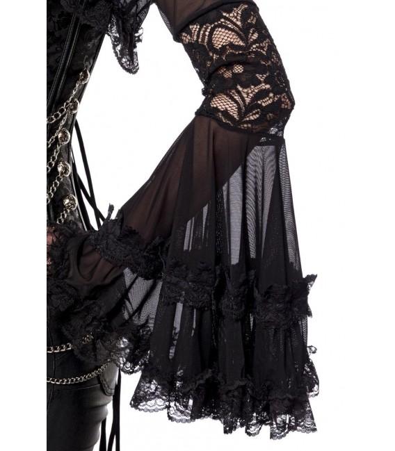 Gothic-Bolero mit Spitze schwarz - AT90009 - Bild 3 Großbild