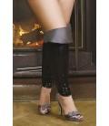Top Boots schwarz/silber S/3044