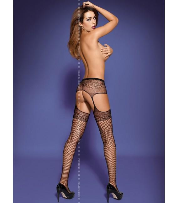 Garter Stockings S502 schwarz Bild 2