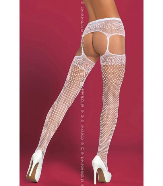 Garter Stockings S502 weiß Bild 2