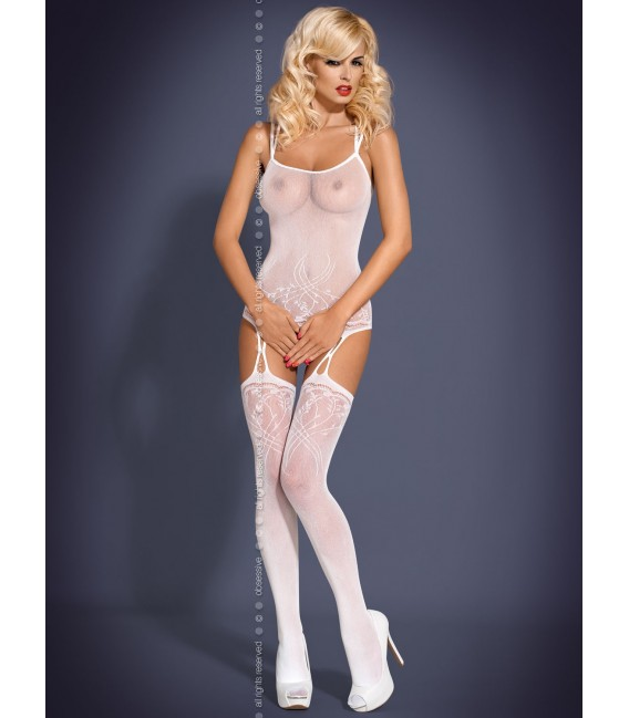 Bodystocking F206 weiß