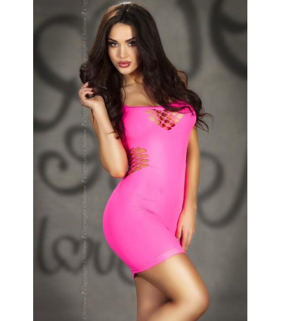 Nahtloses Minikleid CR3612 pink