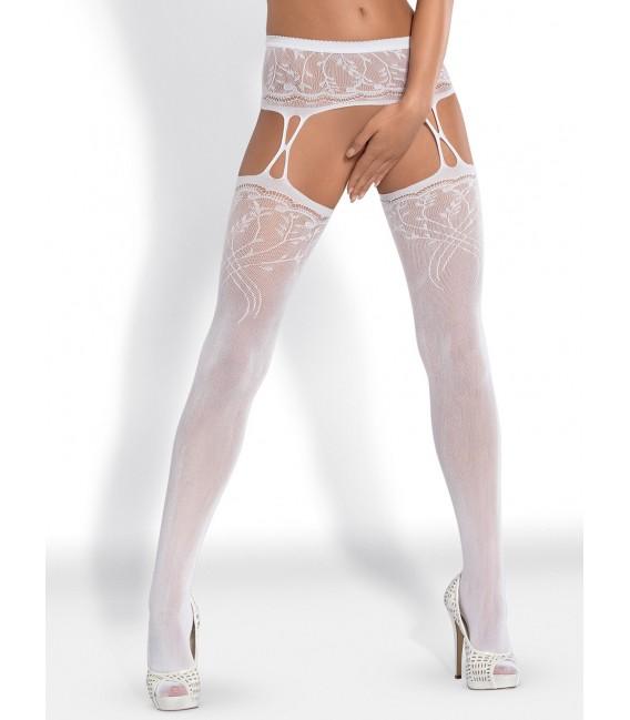 Garter Stockings S206 weiß Bild 2