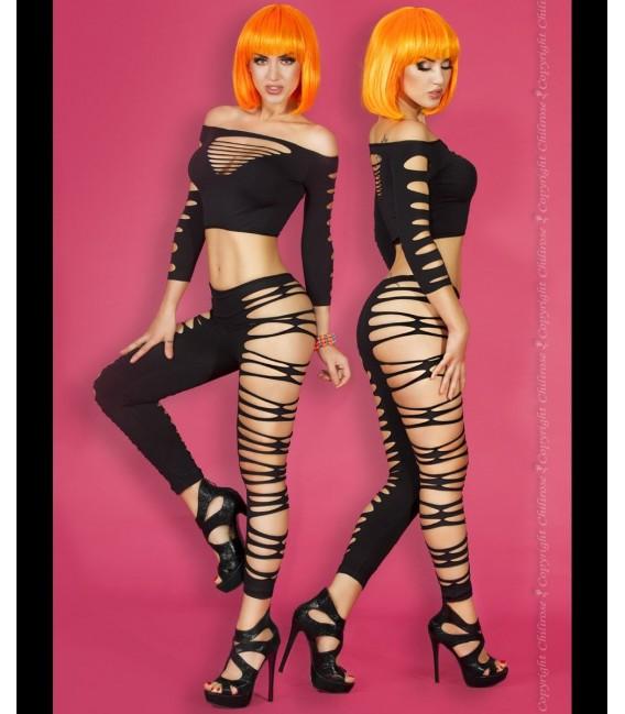 Top + Leggings CR3654 schwarz Bild 3 Großbild