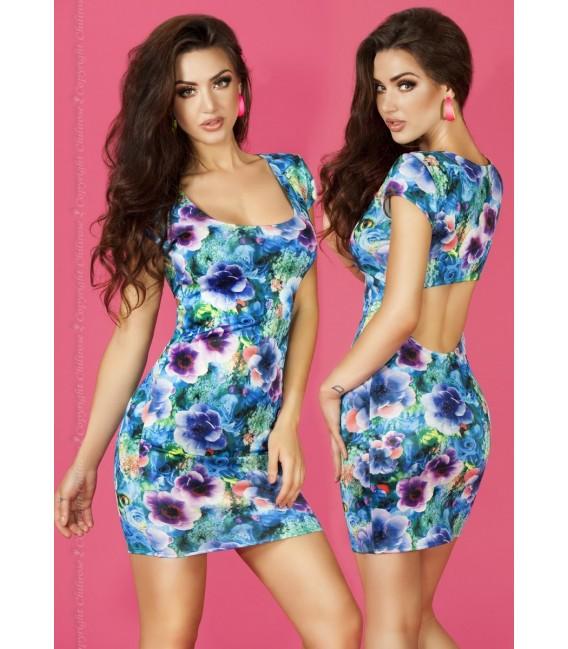Kleid CR3683 blau Bild 3