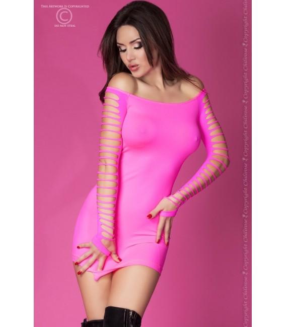 Nahtloses Minikleid CR3608 pink Bild 3