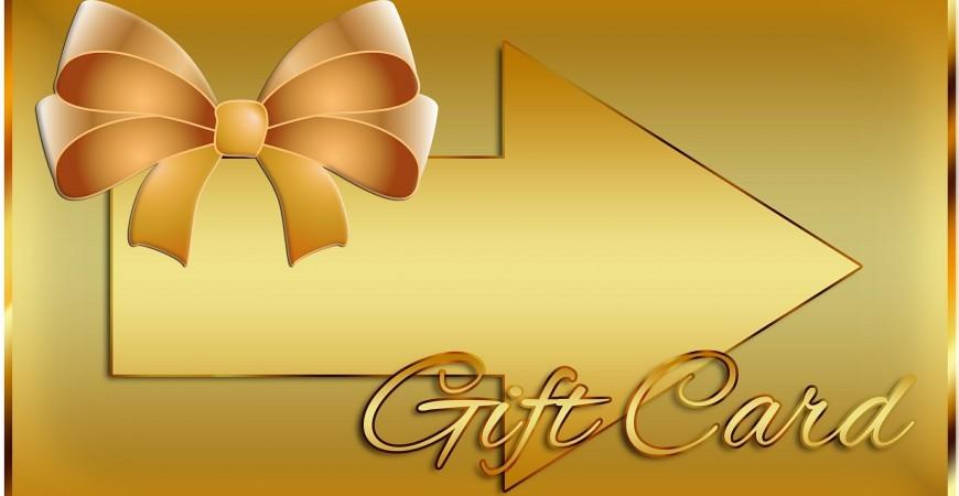 Neue Kategorie Geschenkgutscheine und Geschenkkarten